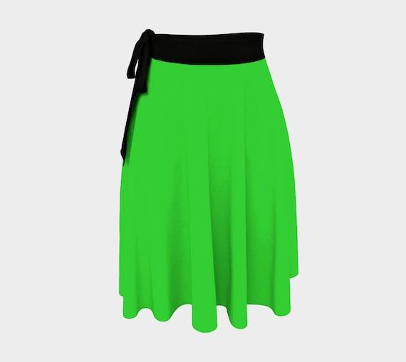 Lime Wrap Skirt