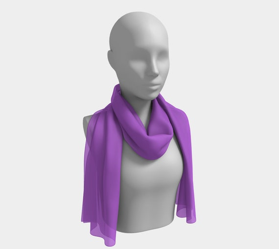 Deep Lilac Long Scarf