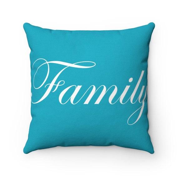 Family Spun Polyester Square Pillow