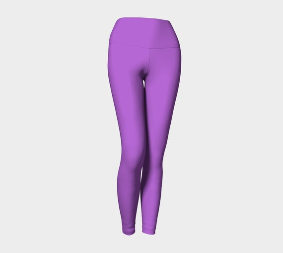 Deep Lilac Yoga Leggings