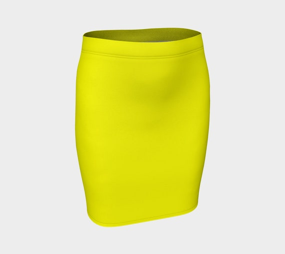 Yellow Fitted Skirt