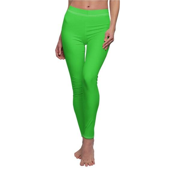 Women's Lime Skinny Casual Leggings