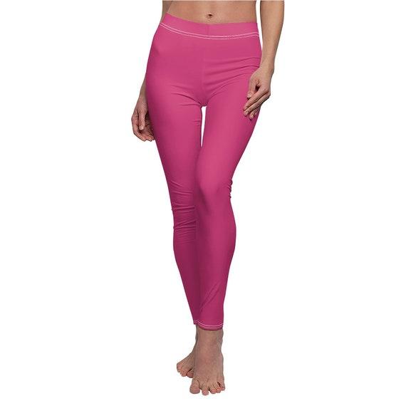 Pink Yarrow Skinny Casual Leggings