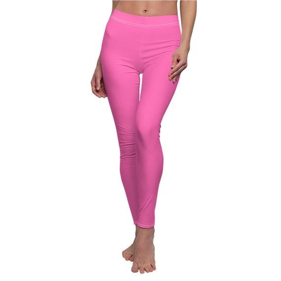 Women's Hot Pink Skinny Casual Leggings