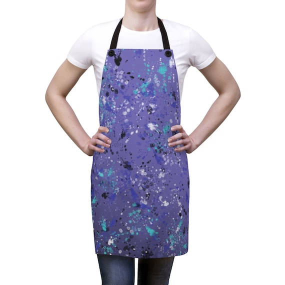 Artsy Purple Splatter Apron