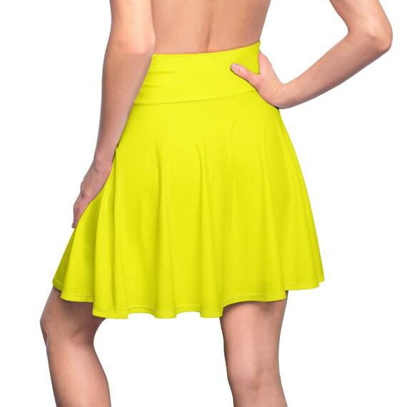 Women's Yellow Skater Skirt