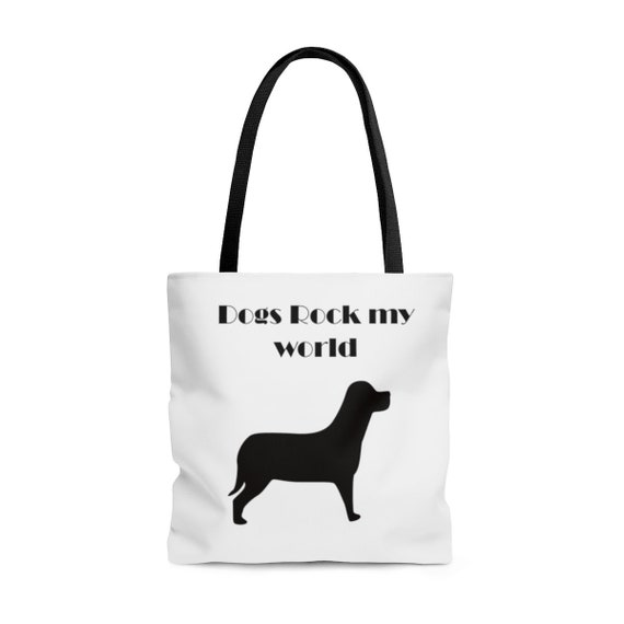 Dogs Rock My World - AOP Tote Bag