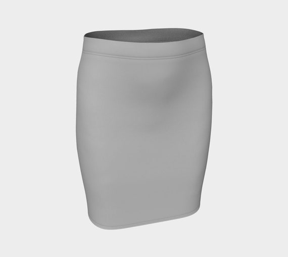 Silver Fitted Skirt