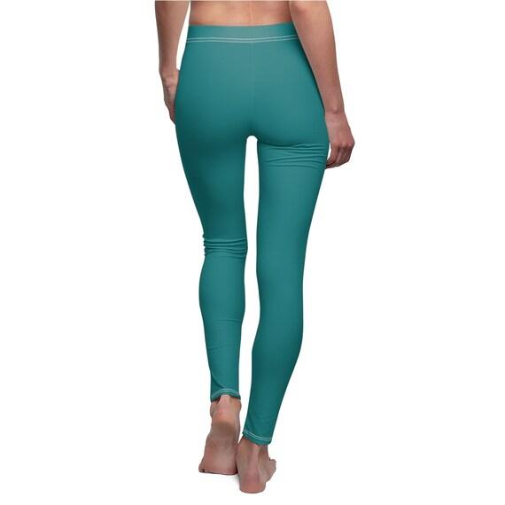 Women's Teal Skinny Casual Leggings