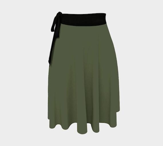 Dark Chive Wrap Skirt