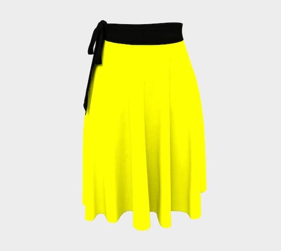 Yellow Wrap Skirt