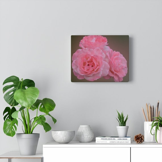 Pink Roses Canvas Gallery Wraps