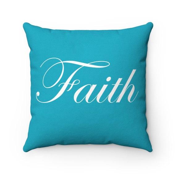 Faith Spun Polyester Square Pillow