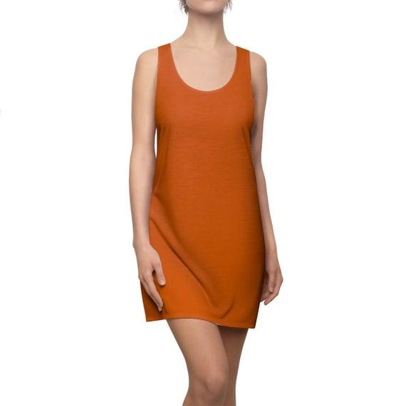 Burnt Orange Racerback Dress