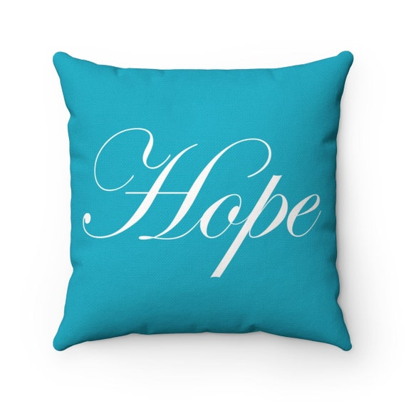 Hope Spun Polyester Square Pillow