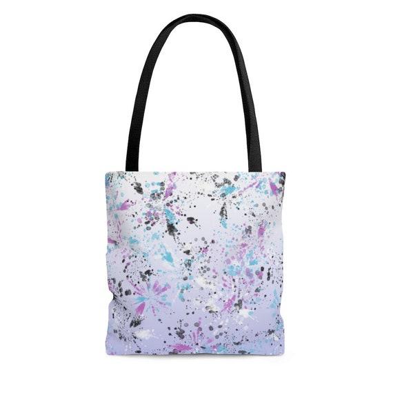 Purple with Black Polka Dots - Tote Bag
