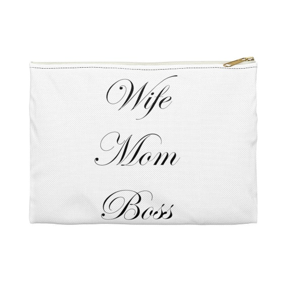 Wife Mom Boss - Accessory Pouch