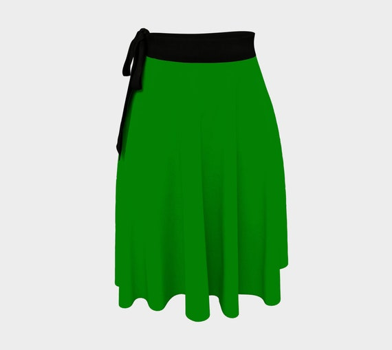 Plain Jane Green Wrap Skirt
