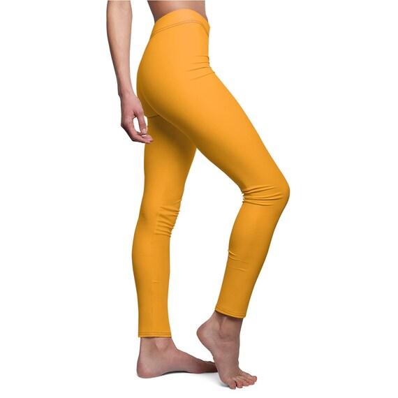 Women's Fruity Orange Skinny Casual Leggings
