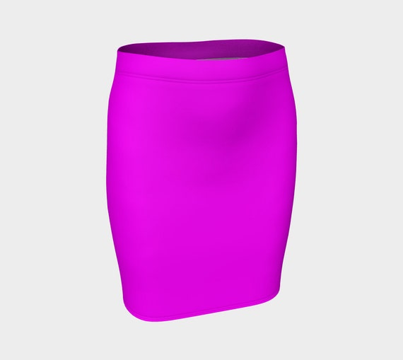 Magenta Fitted Skirt
