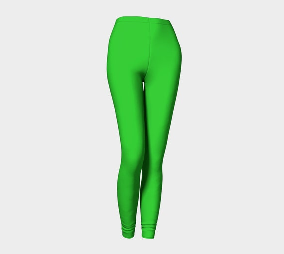 Bohemian Madwoman Lime Leggings