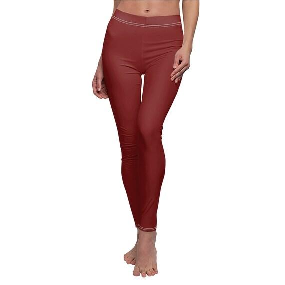 Maroon Skinny Casual Leggings