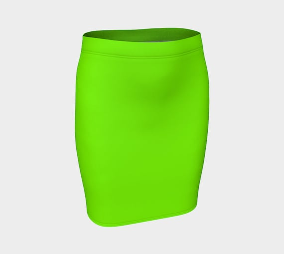 Chartreuse Fitted Skirt