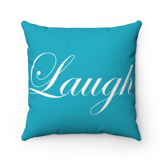 Laugh Spun Polyester Square Pillow