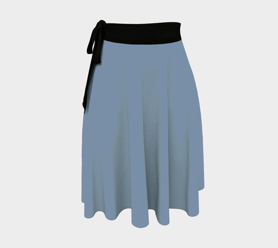 Denim Blue Wrap Skirt