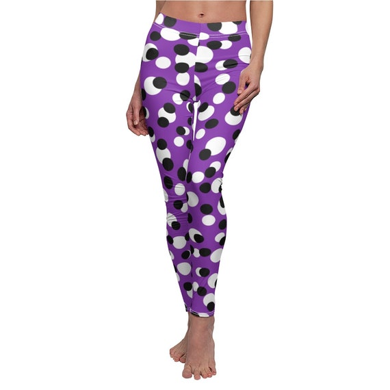 Just Crazy Dots in Purple Skinny Casual Leggings