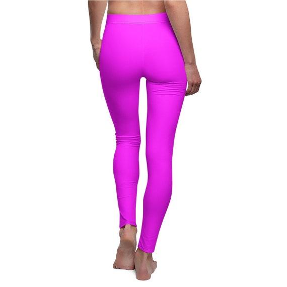 Women's Magenta Skinny Casual Leggings