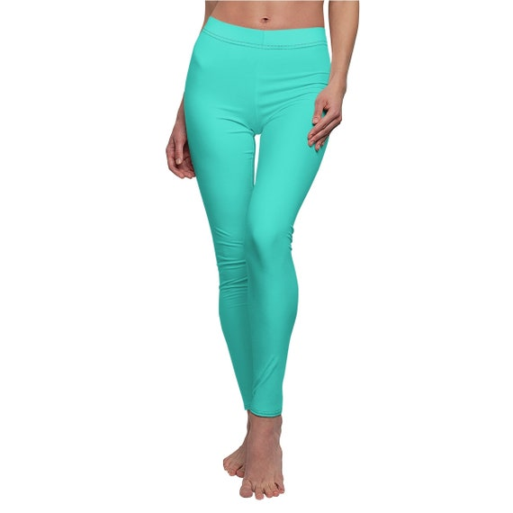 Women's Turquoise Skinny Casual Leggings