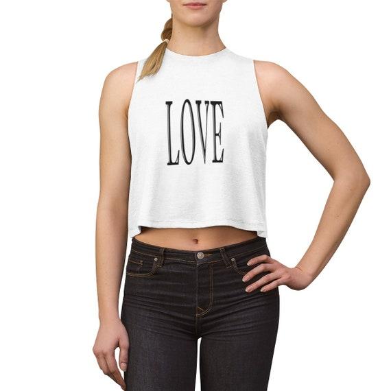 LOVE - Women's Crop top