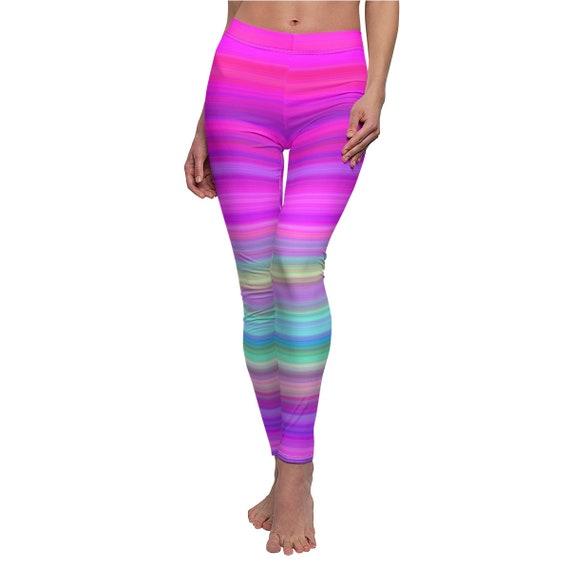 Women's Pink Neon Moon Skinny Casual Leggings