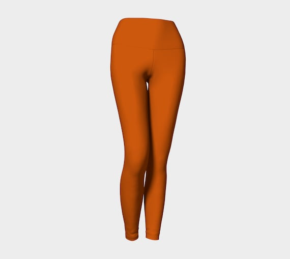 Burnt Orange Yoga Leggings