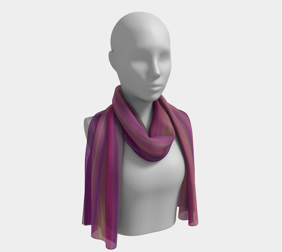 Neon Lights Long Scarf
