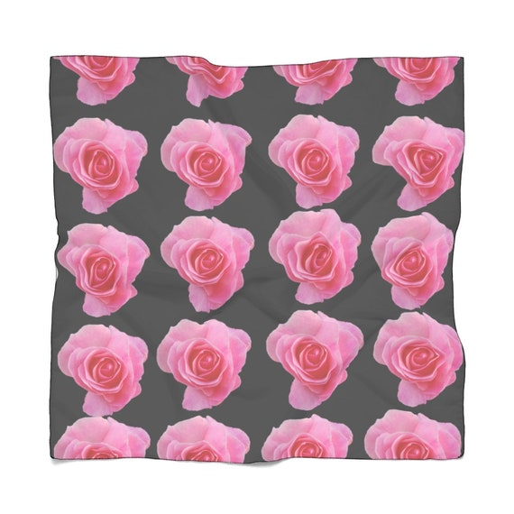 It's Coming Up Roses Poly Scarf