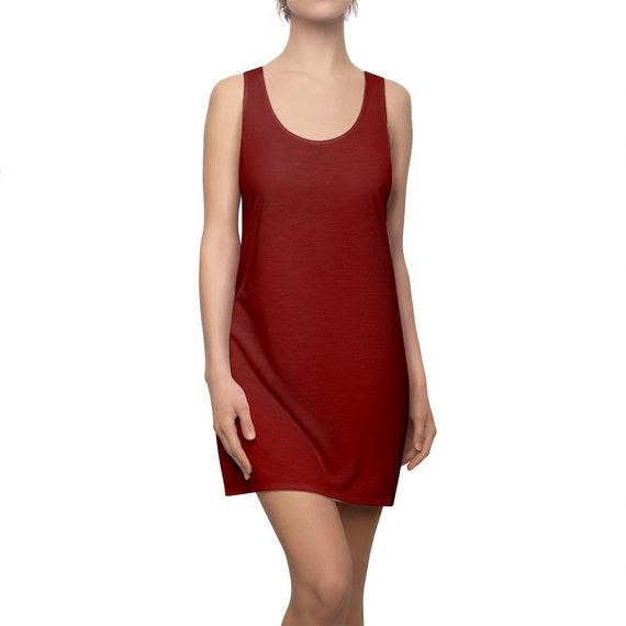 Maroon Racerback Dress