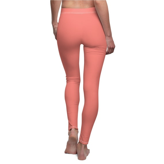Coral Pink Skinny Casual Leggings