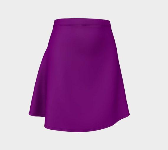 True Purple Flare Skirt