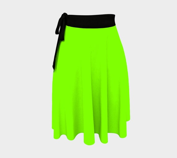 Chartreuse Wrap Skirt