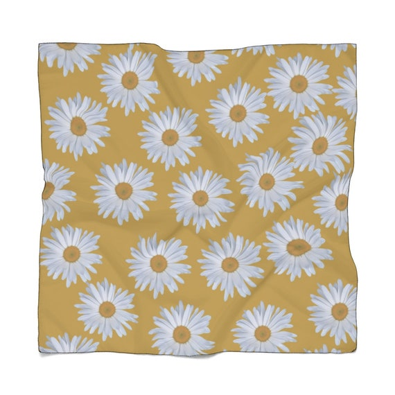 Pushing Up Daisies Poly Scarf