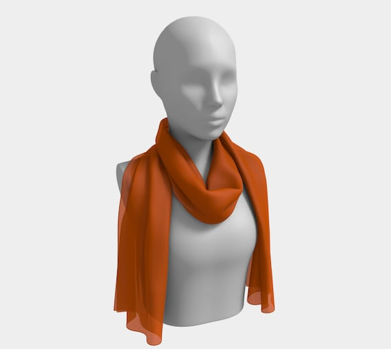 Burnt Orange Long Scarf