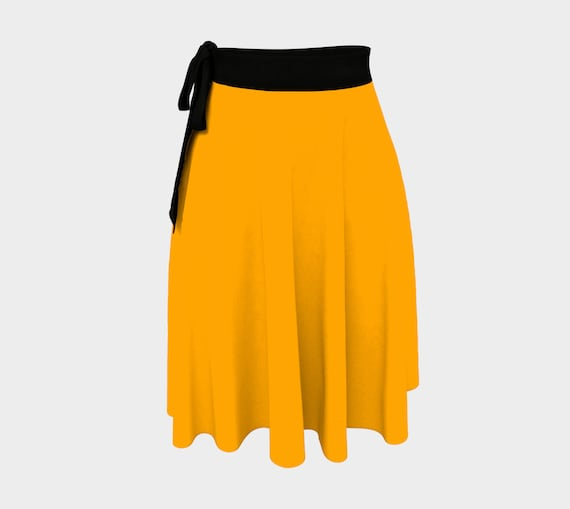 Fruity Orange Wrap Skirt