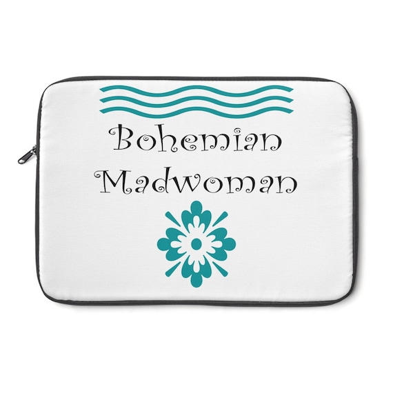 Bohemian Madwoman Laptop Sleeve Signature design