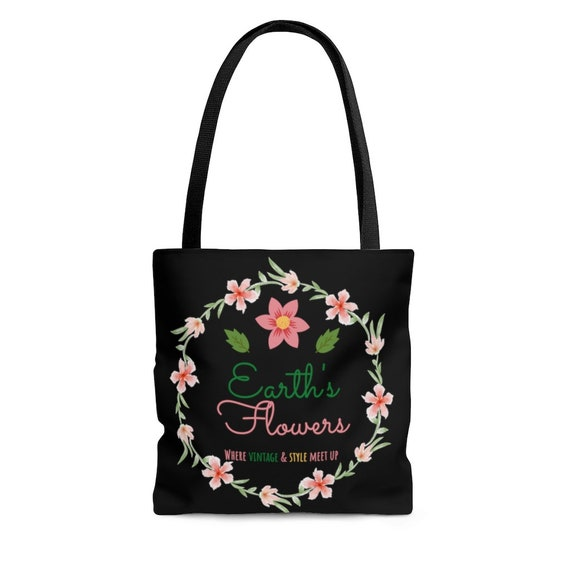 Earth's Flowers Signature Logo Tote Bag