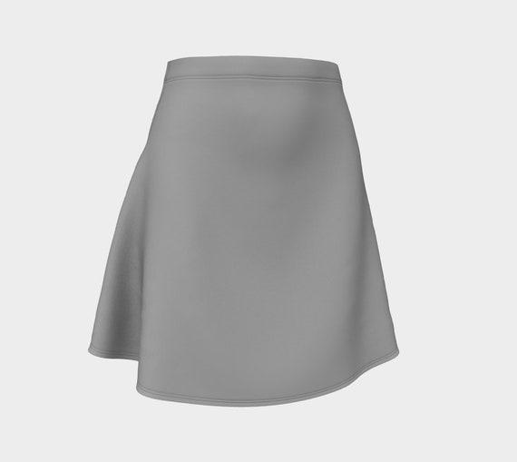 Dark Grey Flare Skirt