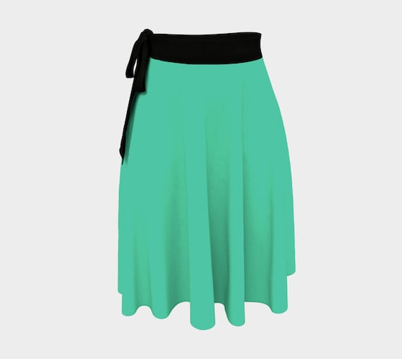 Biscay Green Wrap Skirt