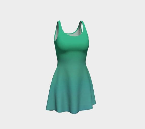 Ocean Breeze Flare Dress
