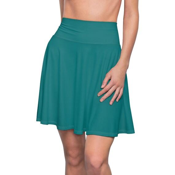 Women's Teal Skater Skirt